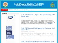 CTET Answer key September 2014