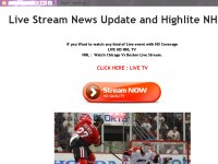 Live Stream News Update and Highlite NHL