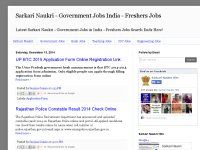 Sarkari Naukri - Government Jobs India - Freshers Jobs