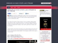OREGON VS OHIO STATE LIVE STREAM