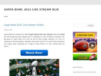SUPER BOWL 2015 LIVE STREAM XLIX
