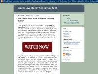Watch Live Rugby Six Nation 2015