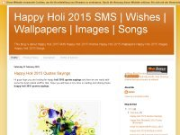 Happy Holi 2015 SMS | Wishes | Wallpapers | Images