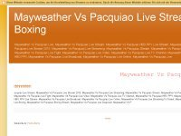 Mayweather Vs Pacquiao Live Stream Boxing