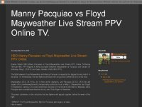 HBO Manny Pacquiao vs Floyd Mayweather Live Stream PPV Online.