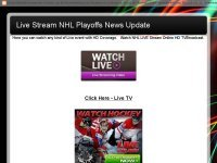 NHL live stream hd tv online broadcast 2015