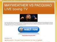 MAYWEATHER VS PACQUIAO LIVE boxing TV