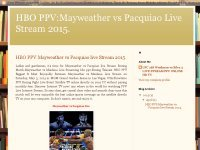 HBO PPV:Mayweather vs Pacquiao live Stream 2015.