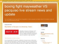 boxing fight mayweather VS pacquiao live stream news and update
