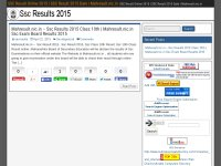 SSC Result Online 2015 | SSC Result 2015 Date | Mahresult.nic.in