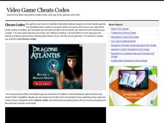 Cheats Codes