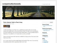 Cure Panic attacks easily