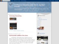 Software industry and stock market trends