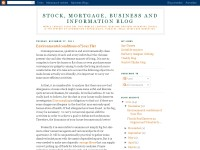 Stock, mortgage, business and information blog