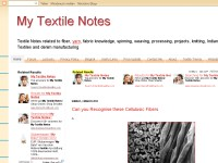 My Textile Notes