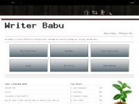 WriterBabu | Social Network 4 bloggers and writers
