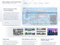 Web designs with WordPress for travel industry