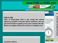 Find jobs using jobsearch and articles on jobs