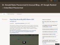 Dr. Donald Ryles Paranormal & Unusual Blog