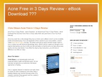 Acne Free in 3 Days Review - eBook Download ???