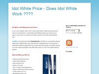 Idol White Price - Does Idol White Work ????