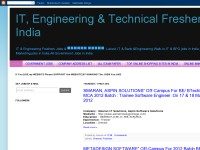 IT, Engineering & Technical Freshers Jobs in India
