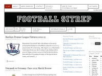 FootballSitRep - The Best Football/Soccer Blog!