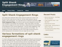 Split Shank Engagement Rings 2012 Collections