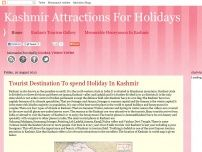 Kashmir Attractions For Holidays