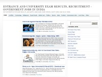 Entrance and University Exam Results, Recruitments