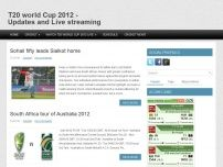 T20 world Cup 2012 - Updates and Live streaming