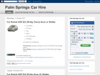 Palm springs car hire