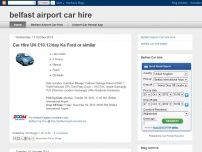 Belfast airport car hire
