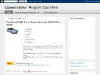 Queenstown airport car hire