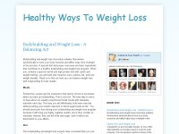 Healthy Ways To Weight Loss