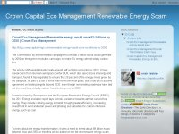 Crown Capital Eco Management Renewable Energy Sca