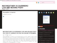 MAYWEATHER VS GUERRERO LIVE BOXING
