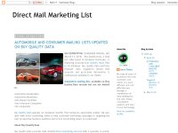 Automobile mailing lists
