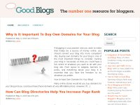 Good Blogs - The Number 1 Resource for Bloggers