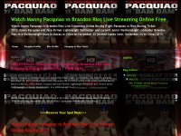 Watch Manny Pacquiao vs Brandon Rios Live Streaming Online Free
