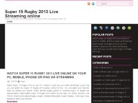 Super 15 Rugby 2013 Live Streaming online