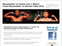 Mayweather vs Canelo Live || Watch Floyd Mayweathe