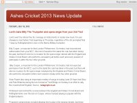 Ashes Cricket 2013 News Update