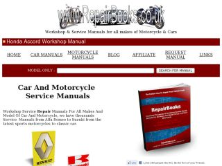 Service Manuals for all makes and model of car and