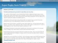 Super Rugby Semi Final 2013 News
