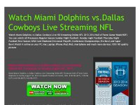 Watch Miami Dolphins vs.Dallas Cowboys Live Streaming NFL