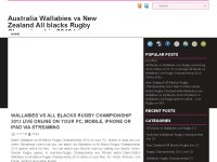 Wallabies vs All blacks RugbyChampionship 2013 Tv