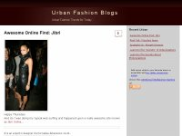 Urban Fashion Blogs