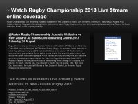 Watch Rugby Championship 2013 Live $tream online coverage
