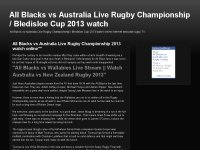 All Blacks vs Australia Live Rugby Championship /